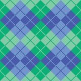 Argyle Design dans vert et bleu Photographie stock libre de droits