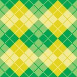 Argyle Design en vert et jaune Image libre de droits