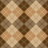 Argyle Design i brunt och beiga Arkivbilder