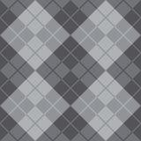 Argyle Design i grå färger Royaltyfri Foto