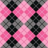 Argyle Design i rosa färger och svart Arkivfoto