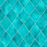 Argyle geometric abstract watercolor seamless pattern texture. Watercolor argyle abstract geometric plaid seamless pattern with silver glitter line contour stock photo