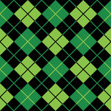 Argyle green seamless background Stock Image