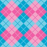 Argyle i blått och rosa färger Arkivfoto