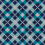 Argyle Knitted Pattern Fond sans joint de vecteur Photographie stock libre de droits