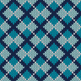 Argyle Knitted Pattern Fond sans joint de vecteur Photos stock