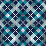 Argyle Knitted Pattern Fundo sem emenda do vetor fotografia de stock royalty free