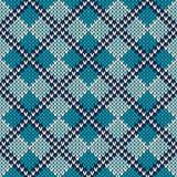 Argyle Knitted Pattern Nahtloser vektorhintergrund Lizenzfreie Stockfotografie
