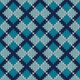 Argyle Knitted Pattern Nahtloser vektorhintergrund Stockfotos