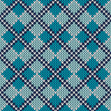 Argyle Knitted Pattern. Seamless Vector Background Stock Photos