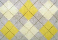Argyle Muster auf einer Strickjacke Stockfoto