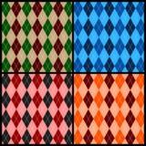 Argyle pattern. Seamless argyle pattern background. Vector illustration Royalty Free Stock Photo