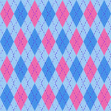 Argyle pattern. Background in pink and blue Royalty Free Stock Photography