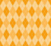Argyle pattern. Seamless summer Argyle pattern orange Stock Image