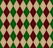 Argyle pattern. Seamless Christmas Argyle pattern green and red Royalty Free Stock Photos