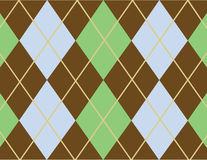 Argyle pattern. A blue, brown and green argyle pattern Vector Illustration