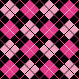 Argyle Pattern_Black-Magenta-Pink Stockfoto