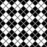 Argyle Pattern_Black-White Lizenzfreie Stockbilder