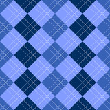 Argyle Pattern Blue royalty free illustration