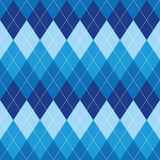 Argyle pattern blue rhombus seamless texture Royalty Free Stock Photography