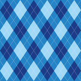 Argyle pattern blue rhombus seamless texture Stock Images