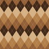 Argyle pattern brown rhombus seamless texture Royalty Free Stock Images
