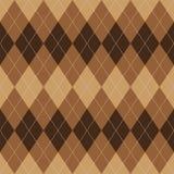Argyle pattern brown rhombus seamless texture. Argyle basic seamless texture brown rhombus pattern Stock Photos