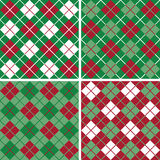 Argyle Pattern_Christmas Imagem de Stock Royalty Free