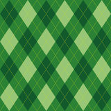 Argyle pattern green rhombus seamless texture Royalty Free Stock Images