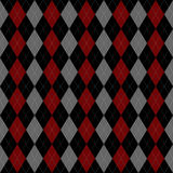 Argyle. Pattern illustration background, black and red Royalty Free Stock Images