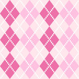 Argyle Pattern inconsútil rosado para el día de tarjetas del día de San Valentín Fotografía de archivo libre de regalías