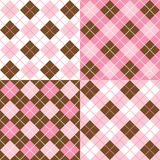 Argyle Patterns. A set of four argyle background patterns Stock Photos