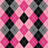 Argyle rayado en rosa Imagen de archivo libre de regalías
