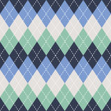 Argyle seamless pattern background. Traditional colors. For print and web. Royalty Free Stock Image