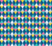 Argyle seamless pattern, four color options. Vector illustration. Stock Photos