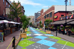 Argyle Street in Halifax Royalty Free Stock Photo