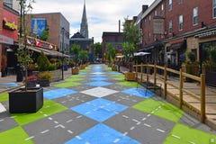 Argyle Street i Halifax royaltyfri foto