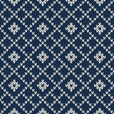 Argyle Sweater Design Nahtloses gestricktes Muster Stockbilder