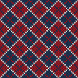 Argyle Sweater Design Nahtloses gestricktes Muster Stockfotografie