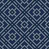 Argyle Sweater Design Nahtloses Muster Lizenzfreie Stockfotos