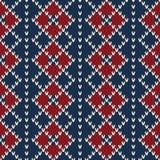 Argyle Sweater Design Nahtloses Muster Stockfotos