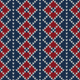 Argyle Sweater Design. Seamless Pattern Stock Photos