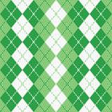 Argyle tratteggiato in verde ed in bianco Fotografia Stock Libera da Diritti