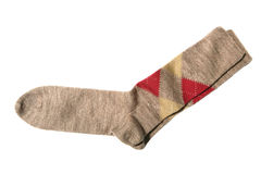 Argyle trouser socks. Isolated on white royalty free stock photo