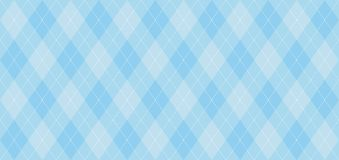 Argyle vector pattern. Light blue with thin white dotted line.
