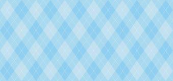 Argyle-Vektormuster Hellblau mit dünner weißer punktierter Linie stock abbildung