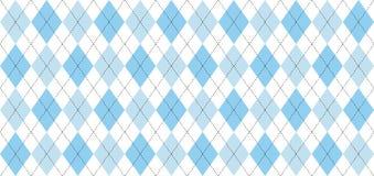 Argyle-Vektormuster Hellblaue und weiße Quadrate mit dünner schwarzer punktierter Linie vektor abbildung
