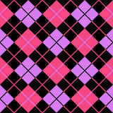 Argyle violet pink seamless background Stock Photography
