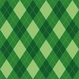 Argyle wzoru zieleni rhombus bezszwowa tekstura Obrazy Royalty Free