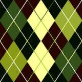 argyle zieleni wzoru wektor Zdjęcia Royalty Free